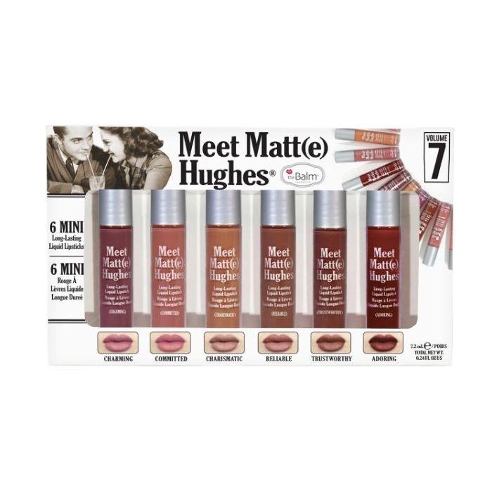 theBalm Meet Matte Hughes Set of 6 Mini Long-Lasting Liquid Lipsticks Volume 7