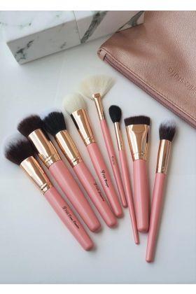 Girliestuffs - Rose Gold Pink + Marble eye brush set - Bundle