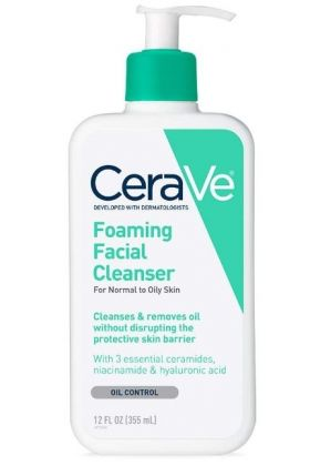CeraVe Foaming Facial Cleanser FOR NORMAL TO OILY SKIN 12 fl oz