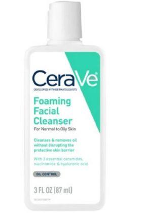 CeraVe- Foaming Facial Cleanser, 3 fl oz