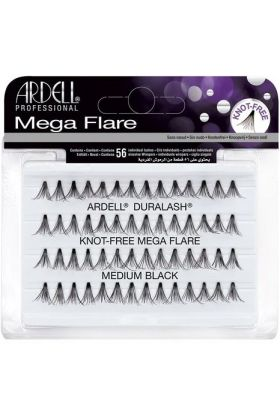Ardell Mega Flare Individual Lashes - medium Black