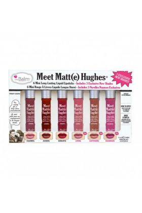 theBalm Meet Matte Hughes Set of 6 Mini Long-Lasting Liquid Lipsticks Volume 3