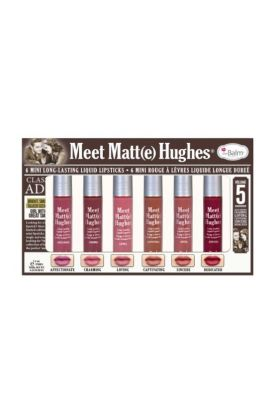 TheBalm Meet Matte Hughes Set of 6 Mini Long-Lasting Liquid Lipsticks Volume 5