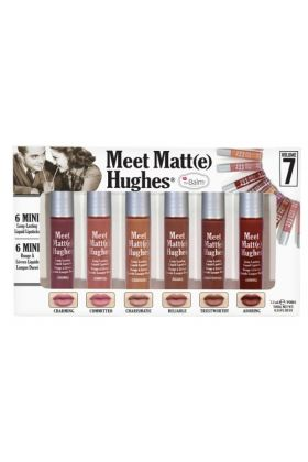theBalm Meet Matte Hughes Set of 6 Mini Long-Lasting Liquid Lipsticks Volume 7